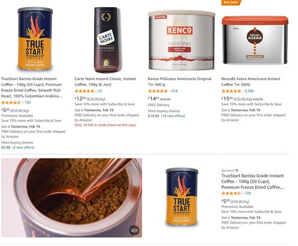 truestart coffee product